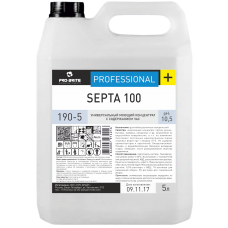 Универсальный низкопенный моющий концентрат с содержанием ЧАС  SEPTA 100