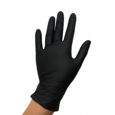 Перчатки из винила L черные (коробка 100 шт)
