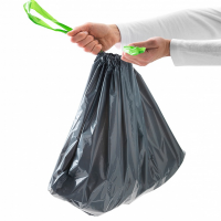 Пакеты под мусор 30 л с завязками (рулон)